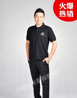 天津夏季纯棉T恤定制(贵宾黑)